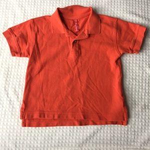 Hanna Andersson Boys Basic Orange Polo Shirt EUC